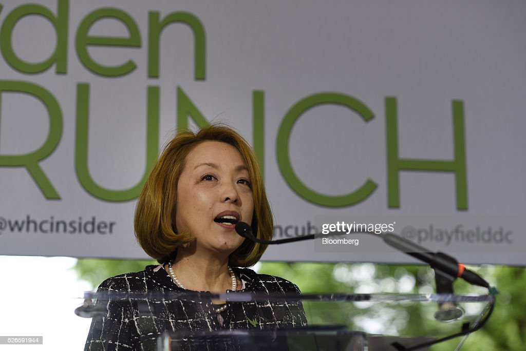 Sachiko Kuno, president and chief executive officer of S&R Foundation, attends the 23rd Annual White House Correspondents' Garden Brunch in Washington, D.C., U.S., on Saturday, April 30, 2016. The event will raise awareness for Halcyon Incubator, an organization that supports early stage social entrepreneurs 'seeking to change the world' through an immersive 18-month fellowship program. Photographer: David Paul Morris/Bloomberg via Getty Images