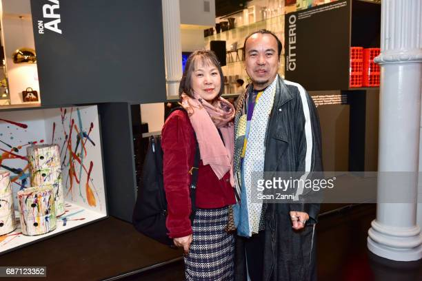 Sachiko Uozumi and Hiroki Hasegawa attend Kartell Tribute to Componibili 50th Anniversary at Kartell Flagship Store New York on May 22 2017 in New...