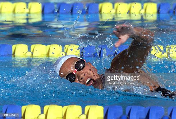 Sachiko Yamada of Japan competes in the Women's 800m Freestyle during the Mission Viejo swimming on June 23 2000 in Mission Viejo California