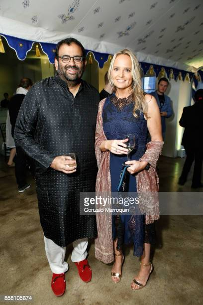 Sachin Patel and Diana Kellogg during the CITTA Fest 2017 Fall Benefit at Tribeca Skyline Studios on October 5 2017 in New York City