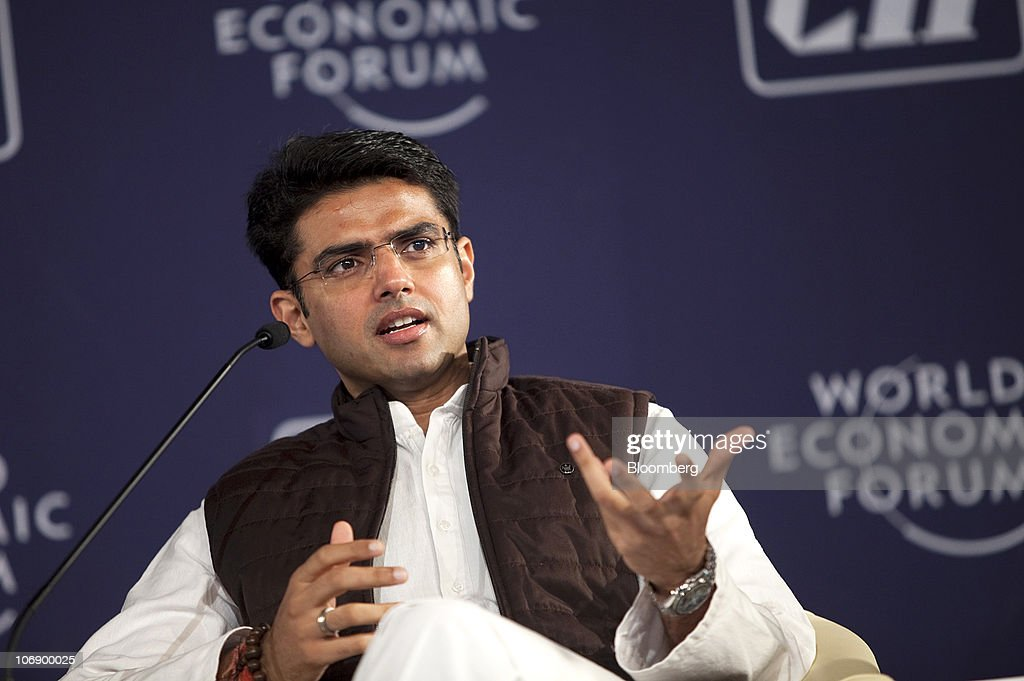 <a gi-track='captionPersonalityLinkClicked' href=/galleries/search?phrase=Sachin+Pilot&family=editorial&specificpeople=5839798 ng-click='$event.stopPropagation()'>Sachin Pilot</a>, India's minister for computers and telecommunications, speaks during the World Economic Forum's India Economic Summit in New Delhi, India, on Tuesday, Nov. 16, 2010. About 800 company executives and investors are attending the annual event in the nation's capital, organized by the World Economic Forum. Photographer: Prashanth Vishwanathan/Bloomberg via Getty Images