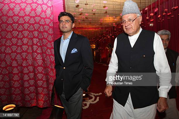 Sachin Pilot Minister of State of Communications and Information Technology with Farooq Abdullah Minister of New and Renewable Energy attending...