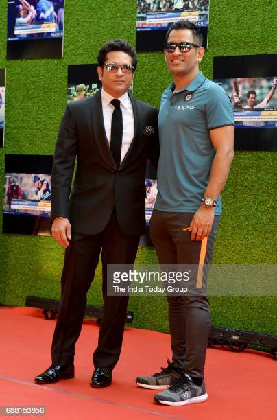Sachin Tendulkar and MS Dhoni at the screening of Sachin A Billion Dreams in Mumbai
