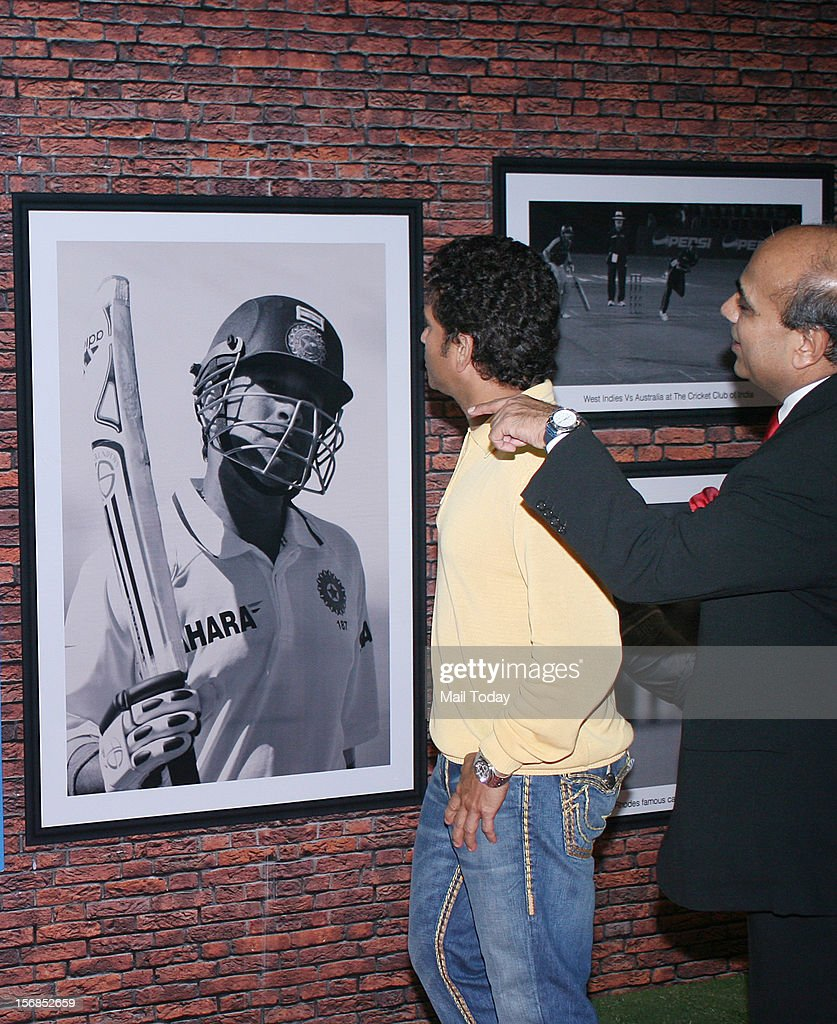 Sachin Tendulkar during Cricket Club of India's 75th anniversary celebration, held in Mumbai on November 22, 2012.