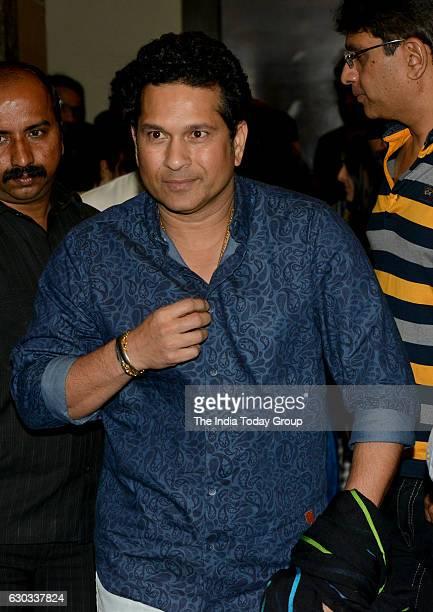 Sachin Tendulkar during the special screening of film Dangal in Mumbai