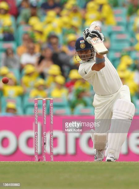 Sachin Tendulkar of India bats during day four of the Second Test Match between Australia and India at the Sydney Cricket Ground on January 6 2012 in...