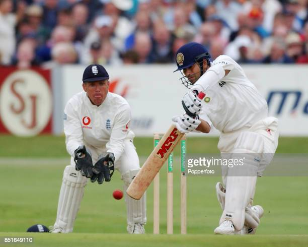 Sachin Tendulkar of India batting during the Third npower Test match between England and India on August 23 2002 at Headingley in Leeds The England...