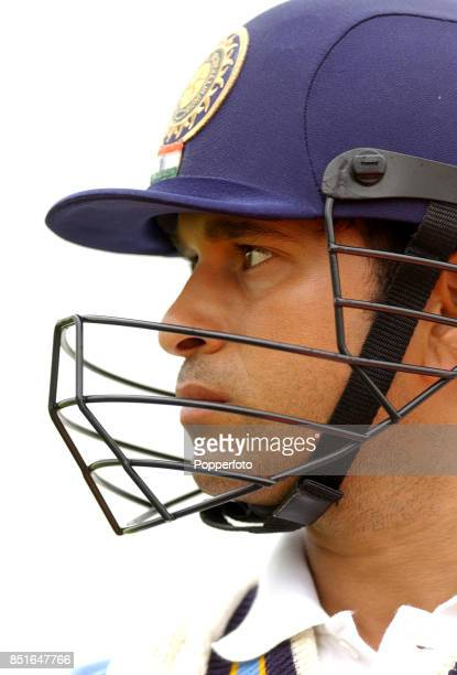 Sachin Tendulkar of India during net practice at Trent Bridge on August 5 2002 in Nottingham England