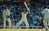 Sachin Tendulkar of India in action during day two of the fourth Test between Australia and India at the SCG on January 3 2004 in Sydney Australia