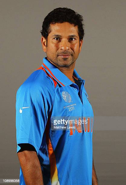 Sachin Tendulkar of India poses during a portrait session ahead of the 2011 ICC World Cup at the ITC Gardenia on February 11 2011 in Bangalore India