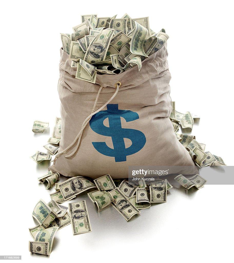 Sack of cash : Stock Photo