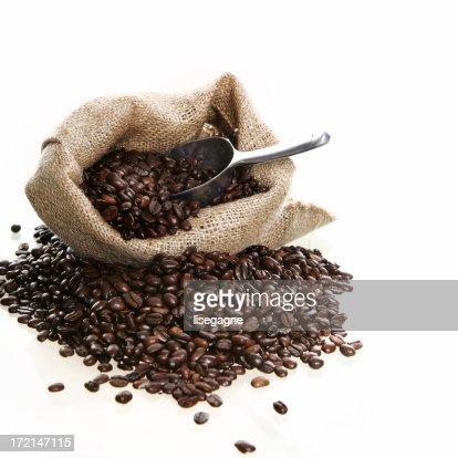 Sac de grains de caf photo getty images - Sac de cafe en grain ...