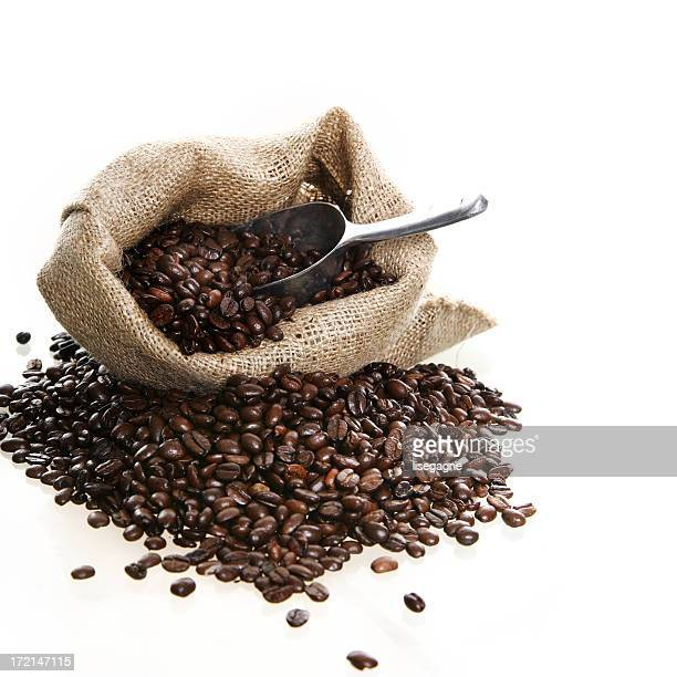 Sack with coffee beans
