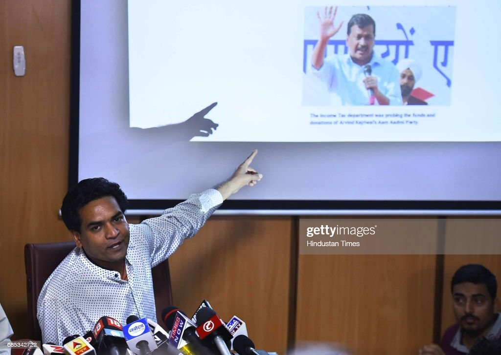 Sacked AAP minister Kapil Mishra claims the party gets funds from hawala channels. Claim details of foreign trips by party leaders will prove disastrous for Arvind Kejriwal on May 19, 2017 in New Delhi, India.