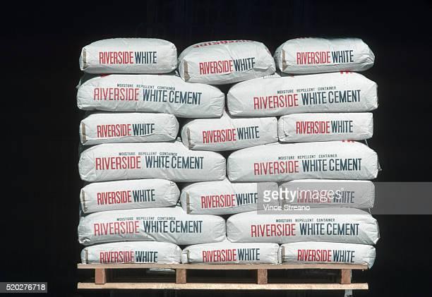 Sacks of Riverside White Cement