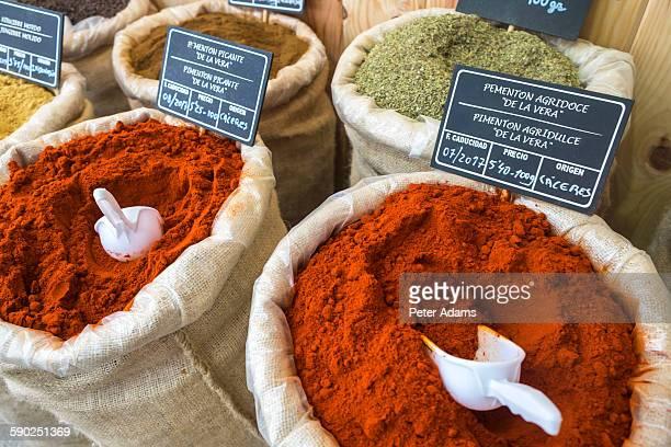 Sacks of spices, Santiago de Compestela, Galicia
