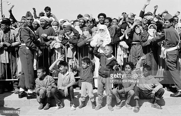 Sacrament Of King Hassan Ii Of Morocco Maroc Rabat 4 mars 1961 à l'occasion de l'intronisation du nouveau roi Hassan II du Maroc le peule s'est...