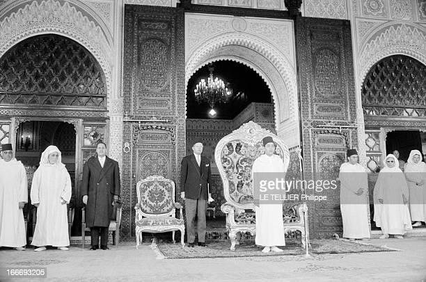 Sacrament Of King Hassan Ii Of Morocco Maroc Rabat 4 mars 1961 le nouveau roi HASSAN II s'apprête à être intronisé dans ses nouvelles fonctions suite...