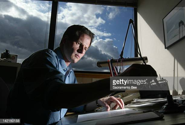 Sacramento Bee editorial cartoonist Rex Babin seen here in this April 2003 file photo whose piercing pen skewered presidents governors and...