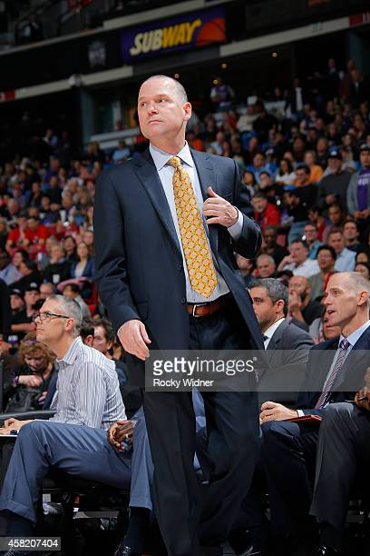 Sacramento Kings head coach Michael Malone during the game on October 31 2014 at the Sleep Train Arena in Sacramento California NOTE TO USER User...