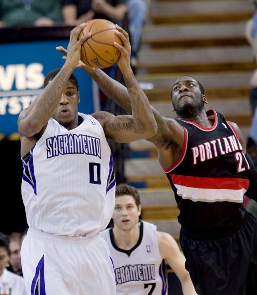 Portland Trail Blazers Kings: Thomas Robinson Basketball Player Stock Photos And