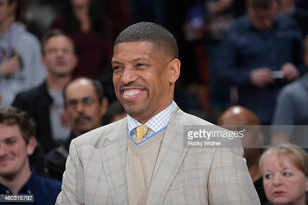 Sacramento mayor Kevin Johnson attends the game between the Indiana Pacers and Sacramento Kings on December 5 2014 at Sleep Train Arena in Sacramento...