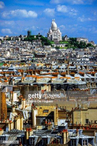 Sacre Coeur Basilica in Paris, France : Stock Photo