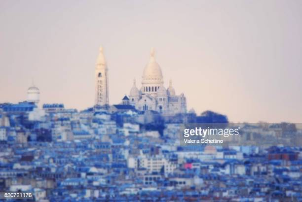 Sacre Coeur Paris, France Skyline