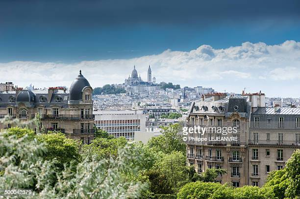 Sacre-coeur from the Buttes-Chaumont