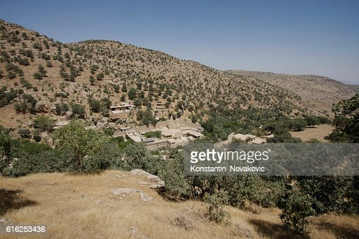 Sacred Yazidi village in Iraqi Kurdistan : Foto de stock