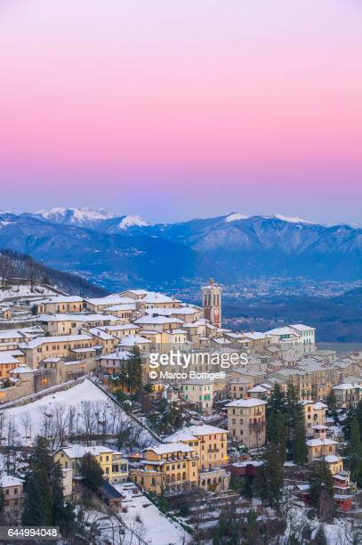 Sacro Monte at dusk in winter.  Varese, Italy.