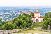 Chapel XIV on the historic pilgrimage route to the Sanctuary of Santa Maria del Monte on the Sacro Monte di Varese or Sacred Mount, Italy
