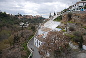 Sacromonte with a view of the Alhambra, Granada, Andalusia, Spain