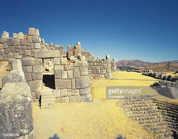 Sacsayhuaman, Peru, South America, High Angle View, Pan Focus