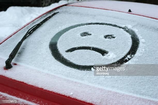 Sad Face In Snow