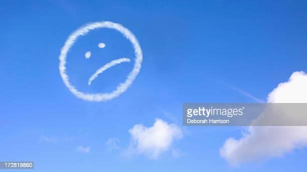 Sad face sky