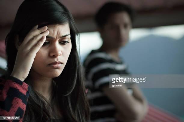 Sad girl facing relationship problems.