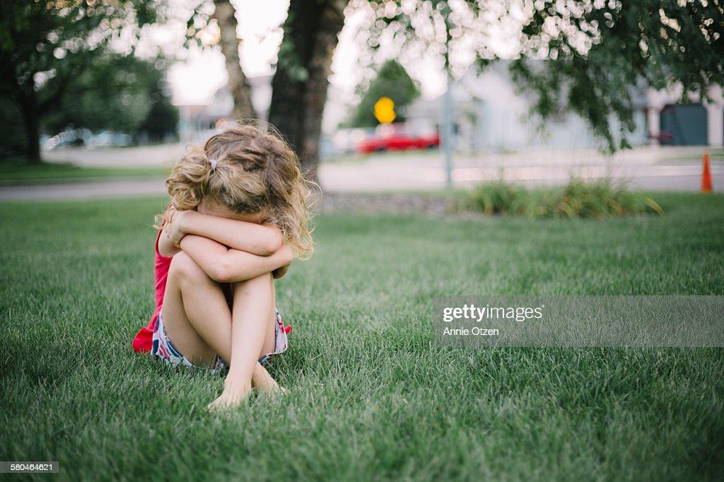 Sad girl : Stock Photo
