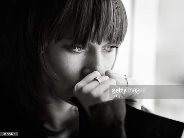 Traurige Mädchen