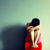 Sad girl sobbing