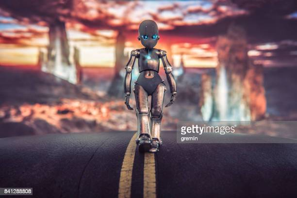Triste petit robot alien quitte