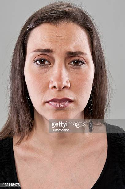 Sad Mature Hispanic Woman (real people)