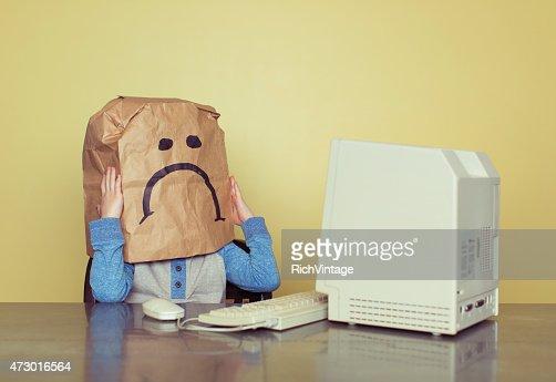 Sad Paper Bag Boy is Cyber Bullying Victim