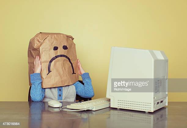 Sad Paper Bag Boy is Cyber Bullying Victim