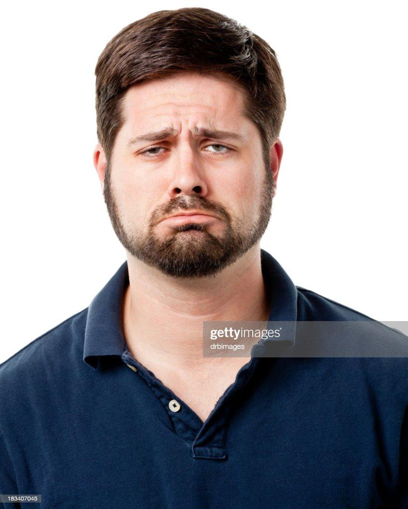 Sad Pouting Man
