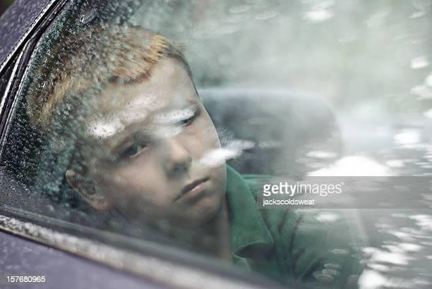 Traurig Fahrer