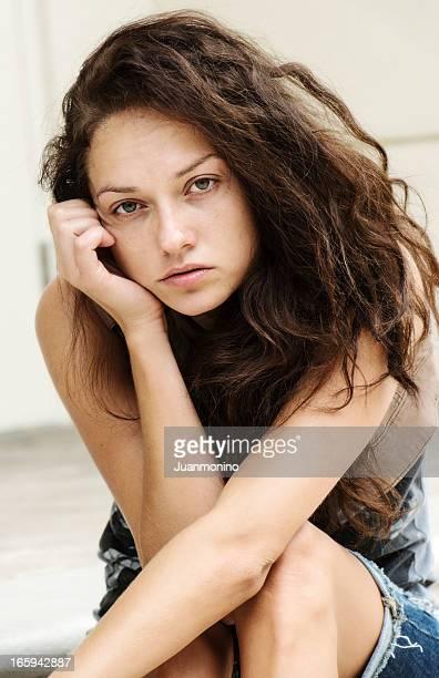 Triste ragazza adolescente
