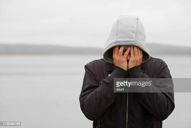 Triste jeune homme