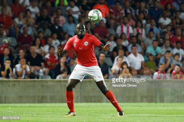 Sada Thioub of Nimes during the Ligue 2 match between Nimes Olympique and As Nancy Lorraine at Stade des Costieres on August 14 2017 in Nimes