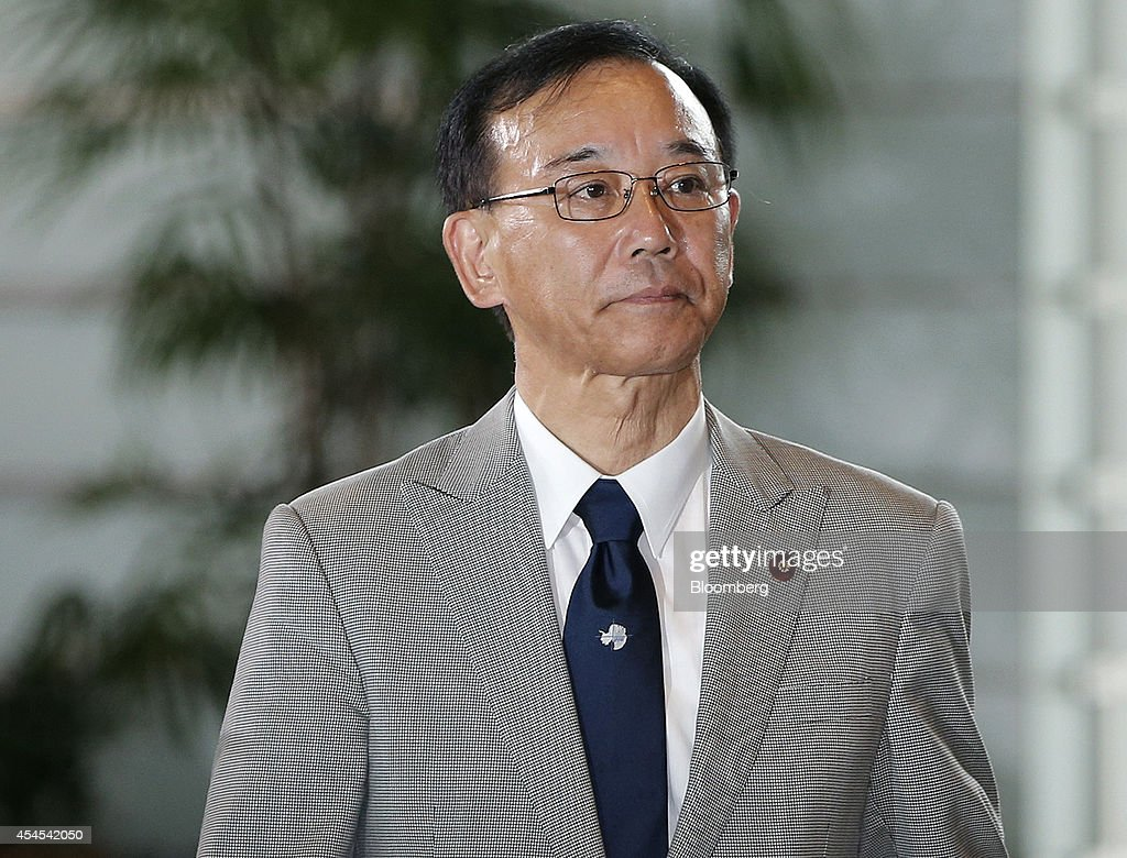 <a gi-track='captionPersonalityLinkClicked' href=/galleries/search?phrase=Sadakazu+Tanigaki&family=editorial&specificpeople=570027 ng-click='$event.stopPropagation()'>Sadakazu Tanigaki</a>, newly appointed secretary general of Japan's ruling Liberal Democratic Party (LDP), arrives at the prime minister's official residence in Tokyo, Japan, on Wednesday, Sept. 3, 2014. Japanese Prime Minister Shinzo Abe placed an advocate of pro-market reforms in charge of the government pension fund and named a rising female politician as industry minister as he seeks to restore momentum to his 'Abenomics policies with a cabinet reshuffle today. Photographer: Kiyoshi Ota/Bloomberg via Getty Images